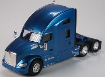HO 1:87 TSH # 692 Kenworth T-680 Sleeper Cab Tandem Axle Tractor - Metallic Blue