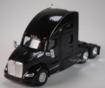 HO 1:87 TSH # 694 Kenworth T-680 Sleeper Cab Tandem Axle Tractor - Black