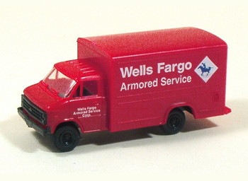 HO 1:87 Trident # 90180 Chevy 1-Ton Van Box - Wells Fargo Red