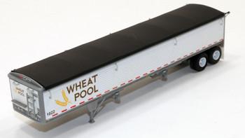HO 1:87 LSM-6037 LoneStar Models Ontario Wheat Pool Covered Grain Trailer- KIT