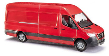HO 1:87 Busch # 52601 - 2014 Mercedes-Benz Sprinter Long-Wheelbase High-Roof Cargo Van - Red