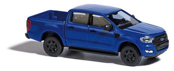 HO 1:87 Busch # 52803 - 2016 Ford Ranger Crew Cab Pickup Truck - Blue