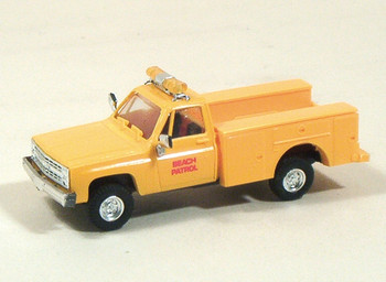HO 1:87 TR-90147 Chevy w/Utility Body Emergency - LA Beach Patrol Yellow