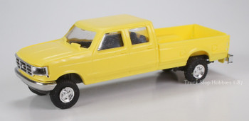 HO 1:87  Trident # 90078 F-350 Ford Crew Cab Pickup 4 x 4 - Yellow