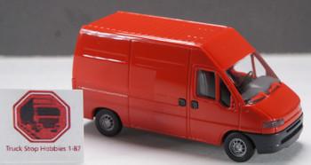HO 1:87 Busch # 89113 - Fiat Ducato Van - Red