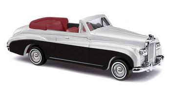 HO 1:87 Busch # 44451 - 1959 Bentley Convertible - Top Down (silver, black)