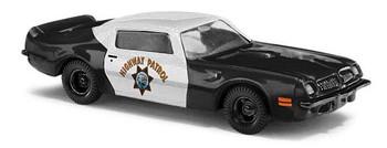 HO 1:87 Busch # 41712 - 1973 Pontiac Firebird Trans Am - California Highway Patrol (black, white)