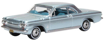 HO 1:87 Oxford 63001 - 1963-1970 Chevrolet Corvair Coupe - Silver-Blue