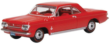HO 1:87 Oxford 63002 - 1963-1970 Chevrolet Corvair Coupe - Red