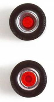 HO 1:87 Herpa # 52986 Truck Tractor Wheels - (5 axles sets dual tires & wide single tires) 11.4 mm diameter