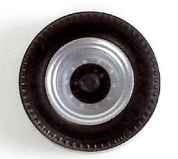 HO 1:87 Herpa # 53020 Truck Trailer Wheels - (12 single wide tire axle sets) 11.4 mm diameter