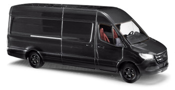 HO 1:87 Busch # 52614 Mercedes- Benz Sprinter Long Wheelbase High Van 2018 - Black