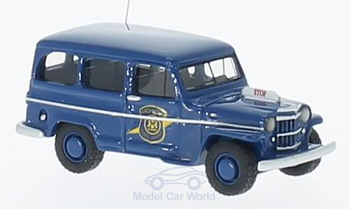 HO 1:87 BOS 87012 - 1954 Willys Station Wagon - Michigan State Police