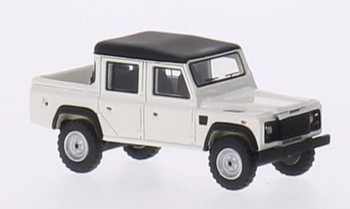 HO 1:87 BOS 213687 - 1990 Land Rover Defender 110 Double Cab - White/Black
