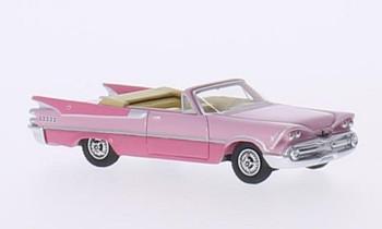 HO 1:87 BOS # 87060 - 1959 Dodge Custom Royal Lancer Convertible 2-Tone Pink