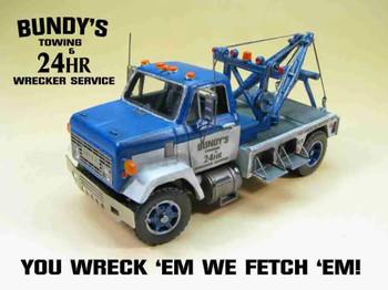 HO 1:87 Showcase Miniatures 3003 GMC 9500 - 1970's  Short Hood Wrecker KIT