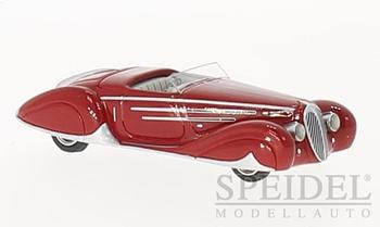 HO 1:87 BOS # 87436 - 1938 Delahaye 165 V-12, Red RHD