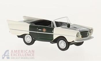 HO 1:87 BOS # 87511 - 1961 Amphicar 770, Police - Black/White