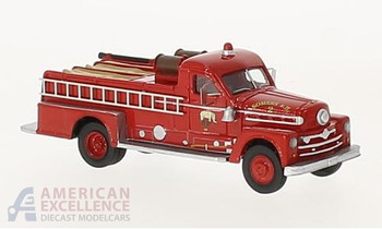 HO 1:87 BOS 87505 - 1958 Seagrave 750 Fire Engine Pumper, Red