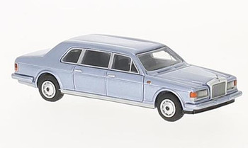 HO 1:87 BOS # 87360 - 1985 Rolls Royce Silver Spur II Touring Limousine, Metallic Light Blue