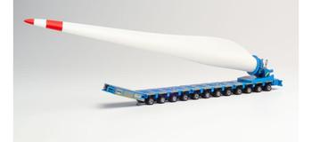 HO 1:87 Herpa # 313032 Goldhofer Self Propelled Wind Blade Transport - Felbermayr