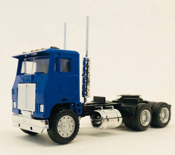 HO 1:87 Promotex # 25237 Dual Axle White Commander Day Tractor - Blue