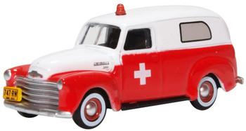 HO 1:87 Oxford 50001 - 1950 - Chevrolet Panel Van Ambulance