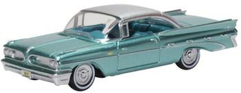 HO 1:87 Oxford 59003 - 1959 - Pontiac Bonneville Coupe Seaspray Green