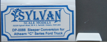 HO 1:87 Sylvan Scale Models # DP-0088 SLEEPER CONVERSION FOR ATHEARN C SERIES TRUCK