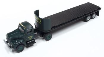 HO 1:87 Classic Metal # 31183 - IH R-190 Tractor w/32' Flat Bed Trailer - Elkins Logging