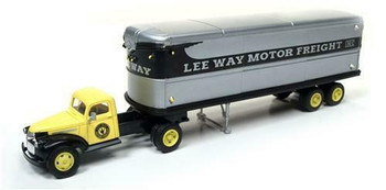 HO 1:87 Classic Metal # 31173 - '41-46 Chevy Tractor w/32' Trailer LEE WAY