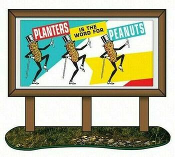HO 1:87 Classic Metal # 20242 - 1950's Country Bill Board - Planters Peanuts