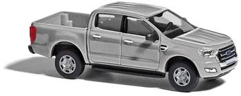HO 1:87 Busch # 52807 - 2016 Ford Ranger Crew Cab Pickup Truck - Metallic Silver