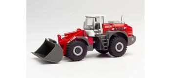HO 1:87 Herpa # 312776 Liebherr Wheel Loader - Kutter Red/White/Grey
