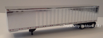 HO 1:87  TSH # 192 -  53' Chrome Dry Van Great Dane Spread Axle Trailer