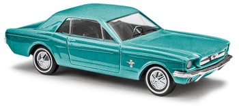 HO 1:87 Busch # 47562 -  Ford Mustang Coupé Metallic Turquoise Green