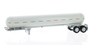 HO 1:87 TON 94962 Propane Tanker Trailer Only - White Body/Chrome Frame