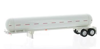 HO 1:87 TON 94955 Propane Tanker Trailer Only - White Body/White Frame