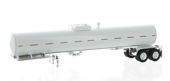 HO 1:87 TON 94931 Food Grade Tanker Trailer Only - White Body/Chrome Frame