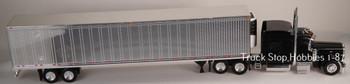 HO 1:87 TSH # 504191 Peterbilt 389 Tractor w/53' Reefer Van Chrome Trailer - Black