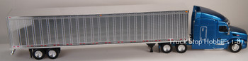 HO 1:87 TSH # 542190 Peterbilt 579 Tractor w/53' Dry Van Chrome Trailer - Blue