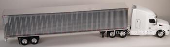 HO 1:87 TSH # 543190 Peterbilt 579 Tractor w/53' Dry Van Chrome Trailer - White
