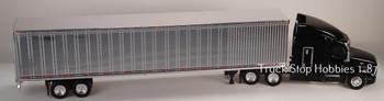 HO 1:87 TSH # 544190 Peterbilt 579 Tractor w/53' Dry Van Chrome Trailer - Black