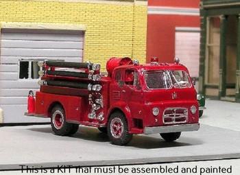 HO 1:87 Sylvan V-335 - 1956-72 International LaFrance Fire Pumper - KIT