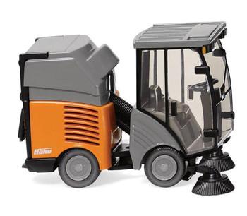 HO 1:87 Wiking # 65738 Hako Citymaster 300 Street Cleaner - Gray, Orange