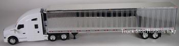 HO 1:87 TSH # 693191 Kenworth T-680 Tractor w/53' Reefer Van Chrome Trailer - White
