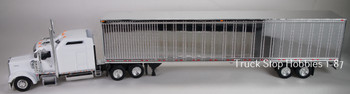 HO 1:87 TSH # 653190 Kenworth W900L Tractor w/53' Dry Van Chrome Trailer - White