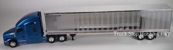 HO 1:87 TSH # 692190 Kenworth T-680 Tractor w/53' Dry Van Chrome Trailer - Blue