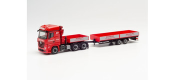 HO 1:87 Herpa # 313322  Mercedes Actros Truck & Trailaer w/Crane - Schlopp