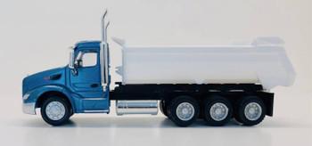 HO 1:87 Promotex # 6600 Peterbilt 579 Dump Tri-Axle Truck - Blue